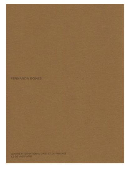 Fernanda Gomes , Artist book