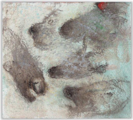 """<span class=""""artist""""><strong>Miquel Barceló</strong></span>, <span class=""""title""""><em>Trois Chevaux, Une Chèvre etc</em>, 2013</span>"""
