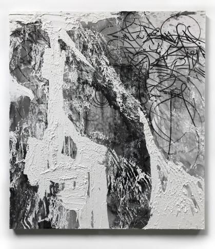 "<span class=""artist""><strong>José Parlá</strong></span>, <span class=""title""><em>Turbulent Cosmos</em>, 2018</span>"