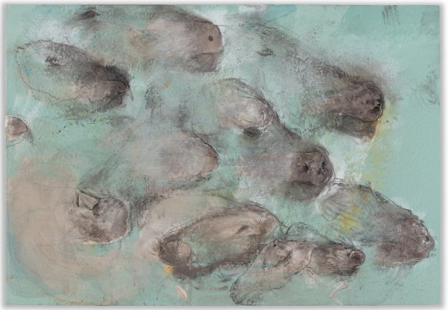 "<span class=""artist""><strong>Miquel Barceló</strong></span>, <span class=""title""><em>Renifleurs</em>, 2013</span>"