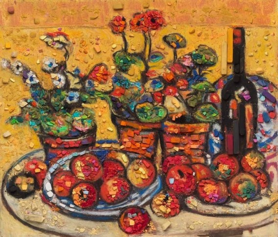 "<span class=""artist""><strong>Vik Muniz</strong></span>, <span class=""title""><em>Metachrome (Fruit and Flowers, after Maurice Prendergast)</em>, 2016</span>"