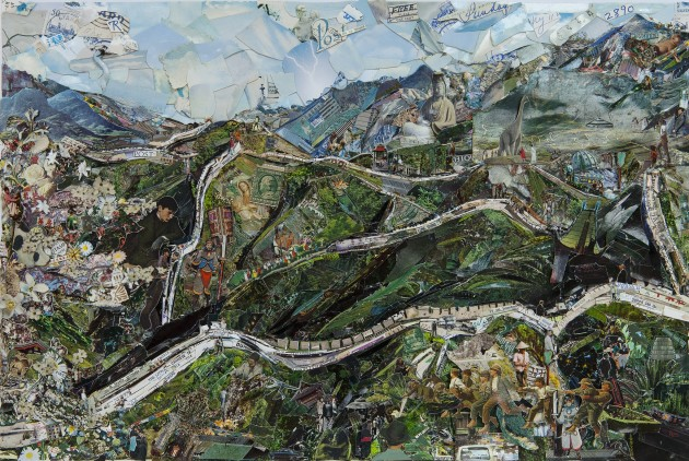 """<span class=""""artist""""><strong>Vik Muniz</strong></span>, <span class=""""title""""><em>The Great Wall of China (Postcards from Nowhere)</em>, 2014</span>"""