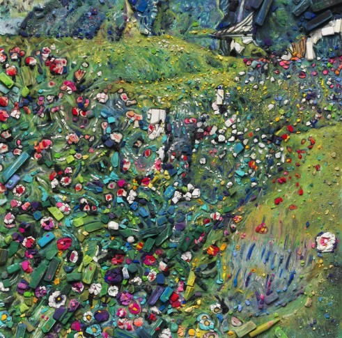 "<span class=""artist""><strong>Vik Muniz</strong></span>, <span class=""title""><em>Metachrome (Italian Garden, after Gustav Klimt)</em>, 2016</span>"