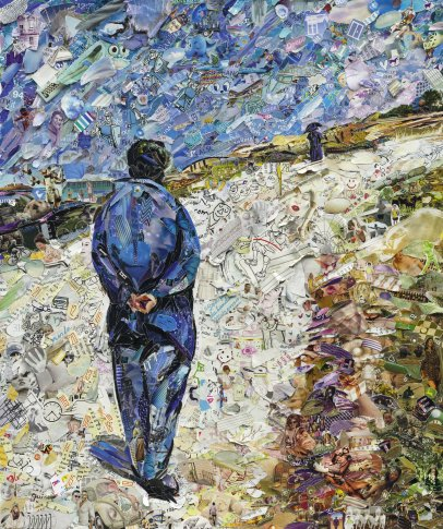 <span class=&#34;artist&#34;><strong>Vik Muniz</strong></span>, <span class=&#34;title&#34;><em>Father Magloire on the Road between Saint-Clair and Etretat, after Gustave Caillebotte (Pictures of Magazines 2)</em>, 2013</span>