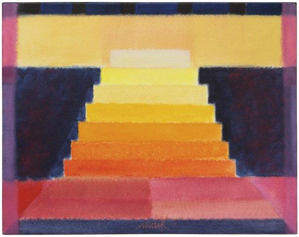 <span class=&#34;artist&#34;><strong>Heinz Mack</strong></span>, <span class=&#34;title&#34;><em>Bühnenbild für eine Oper für Farben (Chromatische Konstellation) [Stage Set for an Opera of Colours (Chromatic Constellation)]</em>, 2007</span>