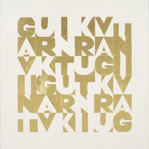 """<span class=""""artist""""><strong>Gavin Turk</strong></span>, <span class=""""title""""><em>GAVINT Gold</em>, 2011</span>"""