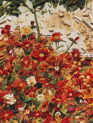 "<span class=""artist""><strong>Vik Muniz</strong></span>, <span class=""title""><em>Metachrome (Field of Flowers, after Egon Schiele)</em>, 2016</span>"