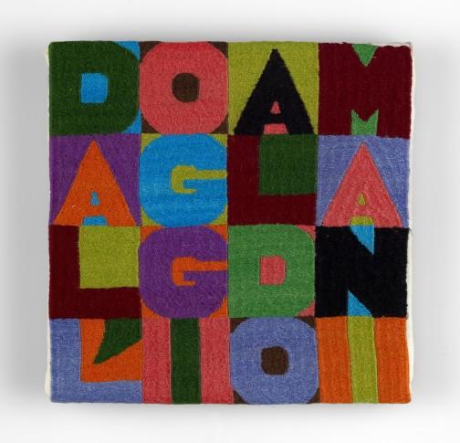 "<span class=""artist""><strong>Alighiero Boetti</strong></span>, <span class=""title""><em>Dall'Oggi al Domani</em>, c. 1990</span>"