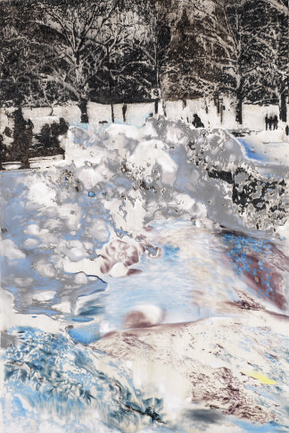 <span class=&#34;artist&#34;><strong>Ena Swansea</strong></span>, <span class=&#34;title&#34;><em>snow garbage</em>, 2018</span>
