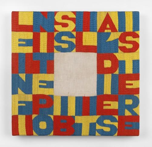 "<span class=""artist""><strong>Alighiero Boetti</strong></span>, <span class=""title""><em>Le Infinite Possibilità di Esistere</em>, 1990</span>"