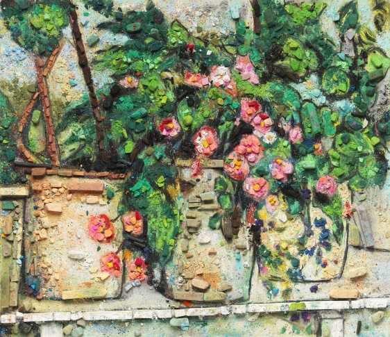 "<span class=""artist""><strong>Vik Muniz</strong></span>, <span class=""title""><em>Metachrome (Still Life with Begonias, after Paul Cézanne)</em>, 2016</span>"