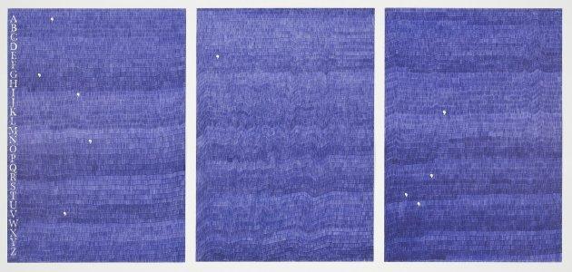 "<span class=""artist""><strong>Gavin Turk</strong></span>, <span class=""title""><em>Gavin e Turk (Blue Biro)</em>, 2012</span>"
