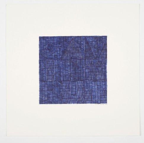 """<span class=""""artist""""><strong>Gavin Turk</strong></span>, <span class=""""title""""><em>Across (Blue Biro)</em>, 2012</span>"""