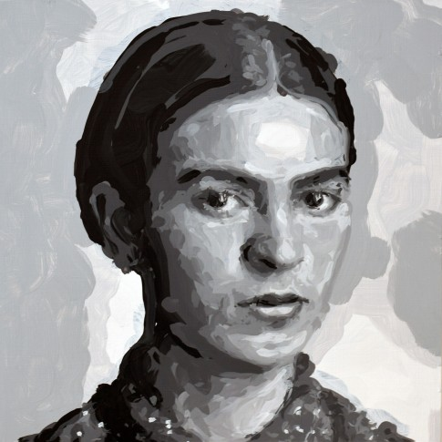 "<span class=""artist""><strong>Rob and Nick Carter</strong></span>, <span class=""title""><em>Frida Kahlo Robot Painting, Painting time: 10:19:30 Stroke count: 3,395 2-4 November 2019</em></span>"
