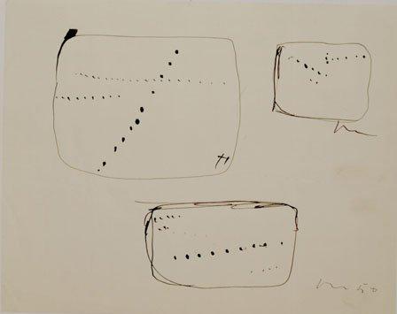 <span class=&#34;artist&#34;><strong>Lucio Fontana</strong></span>, <span class=&#34;title&#34;><em>Tre studi per &#34;Buchi&#34;</em>, 1950</span>