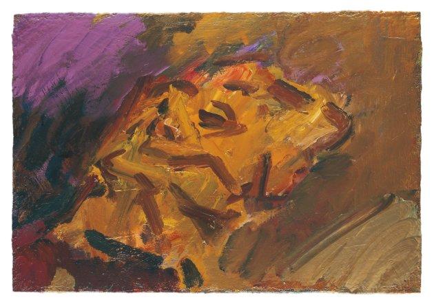 <span class=&#34;artist&#34;><strong>Frank Auerbach</strong></span>, <span class=&#34;title&#34;><em>Reclining Head of Julia II</em>, 2008</span>