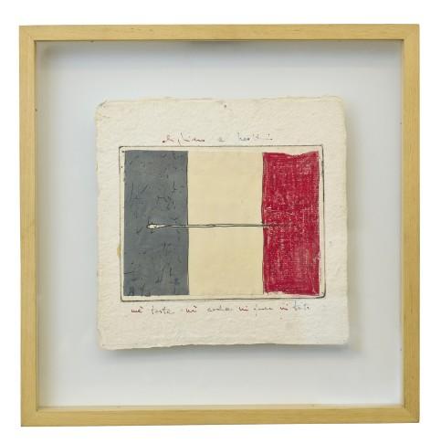 <span class=&#34;artist&#34;><strong>Alighiero Boetti</strong></span>, <span class=&#34;title&#34;><em>Nè Testa Nè coda (recto), Segno e Disegno (verso)</em>, 1980</span>