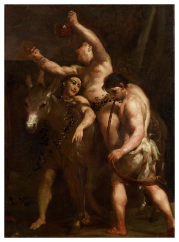 "<span class=""artist""><strong>Giuseppe Maria Crespi</strong></span>, <span class=""title""><em>Silenus</em>, c. 1700</span>"
