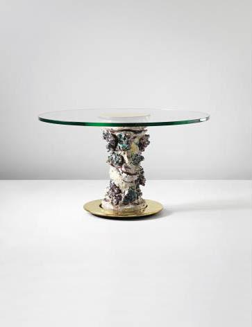 <em>Gamba per Tavolo con Decorazioni Floreali e Figura Femminile</em>, 1952