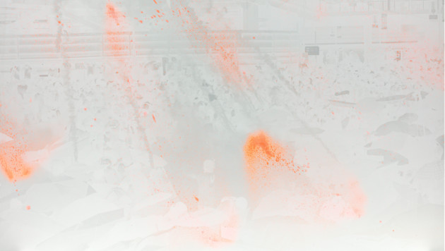 <span class=&#34;title&#34;>Basked in Light (White on Orange on White)<span class=&#34;title_comma&#34;>, </span></span><span class=&#34;year&#34;>2018</span>