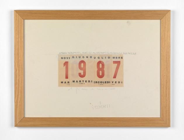 <span class=&#34;artist&#34;><strong>Alighiero Boetti</strong></span>, <span class=&#34;title&#34;><em>Calendario</em>, 1987</span>