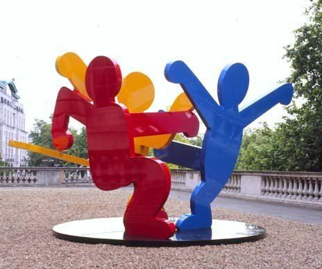 <span class=&#34;artist&#34;><strong>Keith Haring</strong></span>, <span class=&#34;title&#34;><em>Untitled (Three Dancing Figures), Version A</em>, 1989</span>