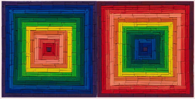 <span class=&#34;artist&#34;><strong>Vik Muniz</strong></span>, <span class=&#34;title&#34;><em>Metachrome (Double Scramble, after Frank Stella)</em>, 2016</span>
