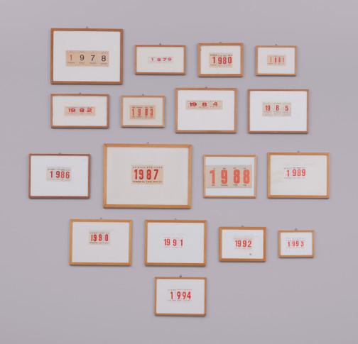 <span class=&#34;artist&#34;><strong>Alighiero Boetti</strong></span>, <span class=&#34;title&#34;><em>Calendari</em>, 1978-1994</span>