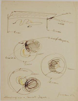<span class=&#34;artist&#34;><strong>Lucio Fontana</strong></span>, <span class=&#34;title&#34;><em>Studi per illuminazione spaziale</em>, 1952</span>