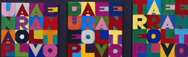 <span class=&#34;artist&#34;><strong>Alighiero Boetti</strong></span>, <span class=&#34;title&#34;><em>Una parola al vento, due parole al vento, tre parole al vento</em>, 1993</span>