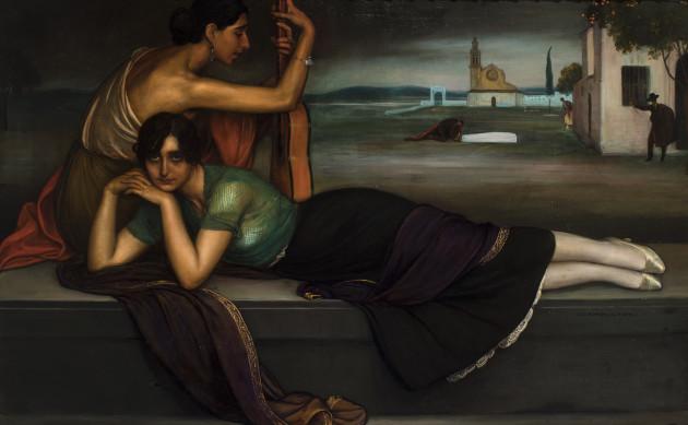 "<span class=""artist""><strong>Julio Romero de Torres</strong></span>, <span class=""title""><em>Gypsy Siguiriya</em>, 1920</span>"