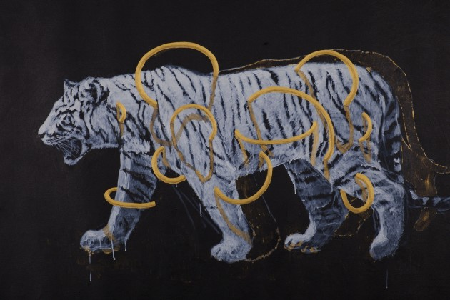 <em>Gold Circle Tiger 02</em>, 2014