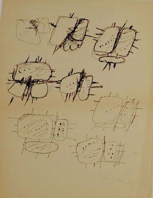 <span class=&#34;artist&#34;><strong>Lucio Fontana</strong></span>, <span class=&#34;title&#34;><em>Studi per sculture</em>, 1954</span>