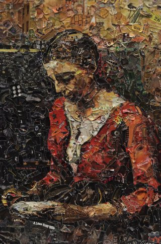 <span class=&#34;artist&#34;><strong>Vik Muniz</strong></span>, <span class=&#34;title&#34;><em>Girl reading, after Jean Baptiste Camille Corot</em>, 2012</span>