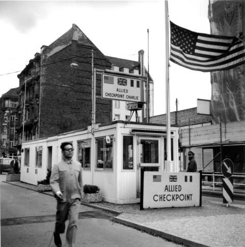 <em>Checkpoint Charlie, Berlin, Germany (Running)</em>, 1985