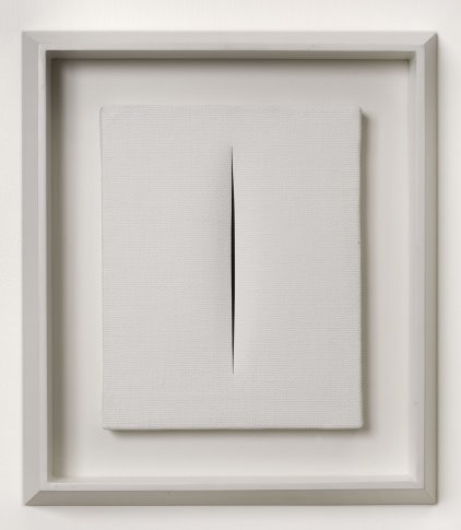 <span class=&#34;artist&#34;><strong>Lucio Fontana</strong></span>, <span class=&#34;title&#34;><em>Concetto Spaziale, Attesa</em>, 1964-65</span>