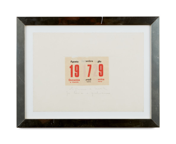 <span class=&#34;artist&#34;><strong>Alighiero Boetti</strong></span>, <span class=&#34;title&#34;><em>Calendario</em>, 1979</span>