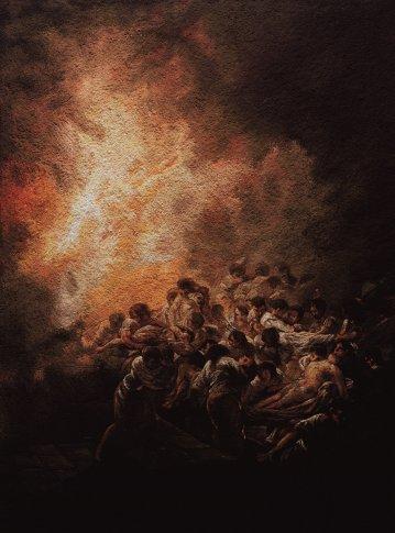 <span class=&#34;artist&#34;><strong>Vik Muniz</strong></span>, <span class=&#34;title&#34;><em>The Night Fire, after Goya</em>, 2007</span>