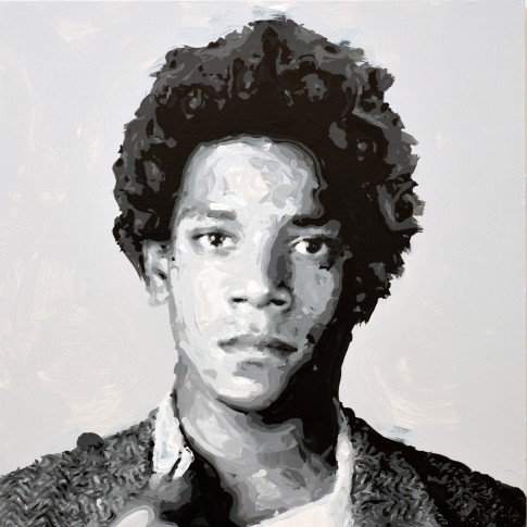 "<span class=""artist""><strong>Rob and Nick Carter</strong></span>, <span class=""title""><em>Jean-Michel Basquiat Robot Painting, Painting time: 14:41:15 Stroke count: 6,713 2-3 December 2019 </em></span>"