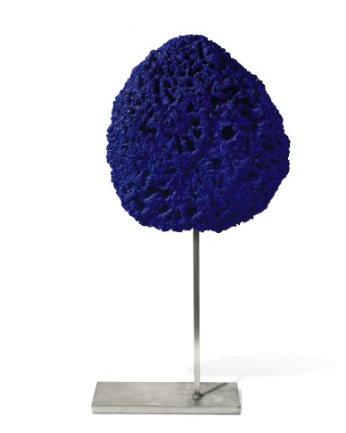 "<span class=""title"">Untitled Blue Sponge Sculpture, (SE 242)<span class=""title_comma"">, </span></span><span class=""year"">c. 1960</span>"