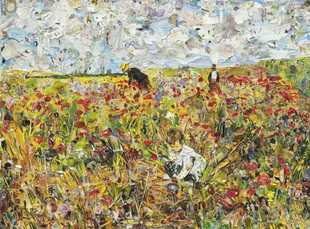<span class=&#34;artist&#34;><strong>Vik Muniz</strong></span>, <span class=&#34;title&#34;><em>Picking Flowers in a Field, after Mary Cassatt</em>, 2012</span>