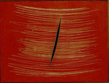 <span class=&#34;artist&#34;><strong>Lucio Fontana</strong></span>, <span class=&#34;title&#34;><em>Concetto Spaziale</em>, 1959</span>