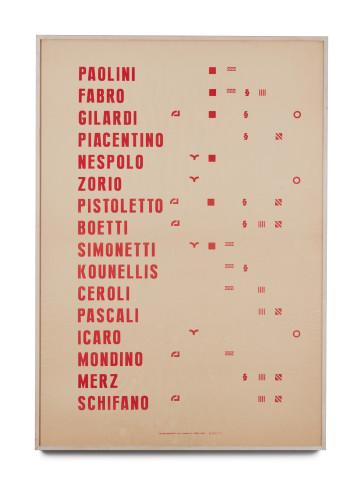 <span class=&#34;artist&#34;><strong>Alighiero Boetti</strong></span>, <span class=&#34;title&#34;><em>Manifesto</em>, 1967</span>