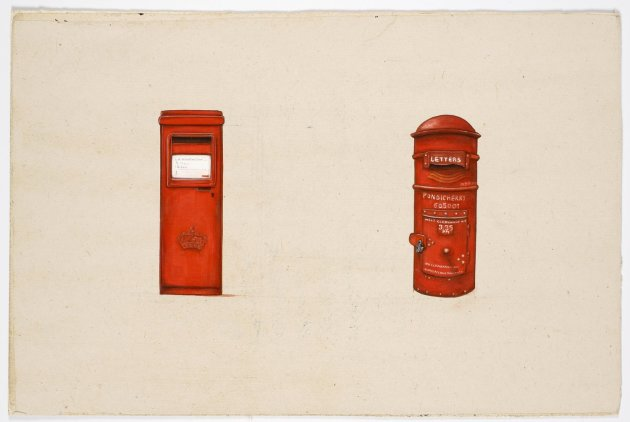 <span class=&#34;artist&#34;><strong>Desmond Lazaro</strong></span>, <span class=&#34;title&#34;><em>Ten Objects or More: Post Box - Scotland /Pondicherry</em>, 2011</span>