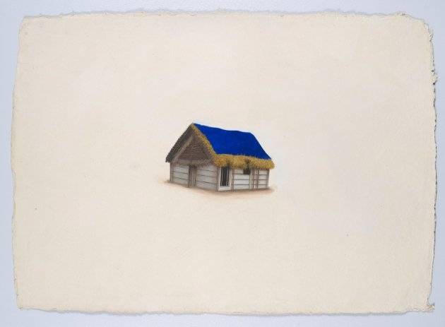 <span class=&#34;artist&#34;><strong>Desmond Lazaro</strong></span>, <span class=&#34;title&#34;><em>Blue and Golden House Painting</em>, 2012</span>