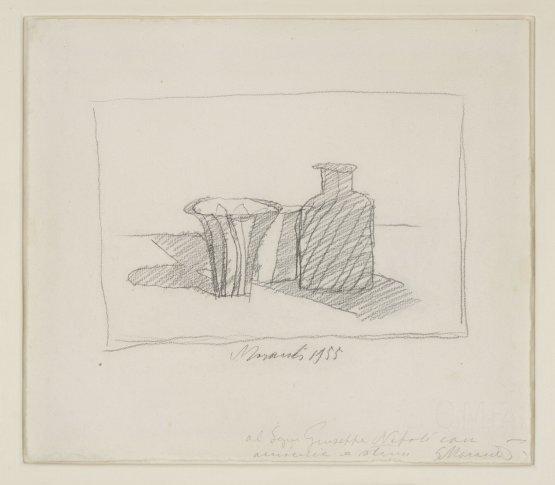 <span class=&#34;artist&#34;><strong>Giorgio Morandi</strong></span>, <span class=&#34;title&#34;><em>Natura Morta con Oggetti</em>, 1955</span>