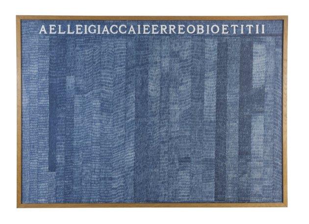 <span class=&#34;artist&#34;><strong>Alighiero Boetti</strong></span>, <span class=&#34;title&#34;><em>Aelleigiaccaieerreobioetitii</em></span>