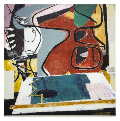 """<span class=""""artist""""><strong>Enoc Perez</strong></span>, <span class=""""title""""><em>Le Corbusier's Drafting Table, 1953</em>, 2019</span>"""