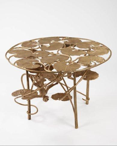 <span class=&#34;artist&#34;><strong>Claude Lalanne</strong></span>, <span class=&#34;title&#34;><em>Table Lotus et Singe Ronde en Bronze</em>, 2007/2012</span>
