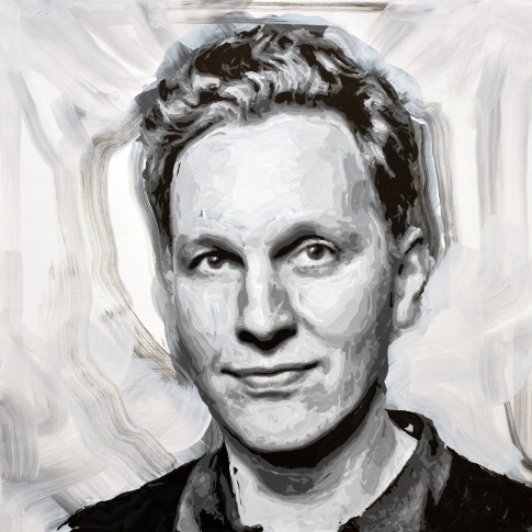 "<span class=""artist""><strong>Rob and Nick Carter</strong></span>, <span class=""title""><em>David Shrigley Robot Painting, Painting time: 19:05:28  Stroke count: 7,839  26-27 January 2020</em></span>"